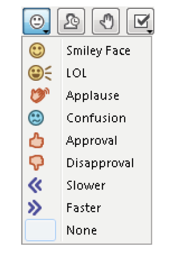 list of reactions with emojis